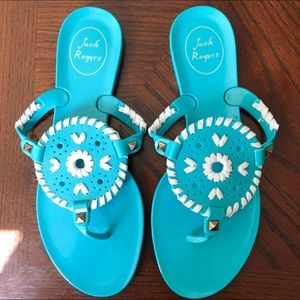 Jack Rogers Georgica Turquoise Jelly Sandals